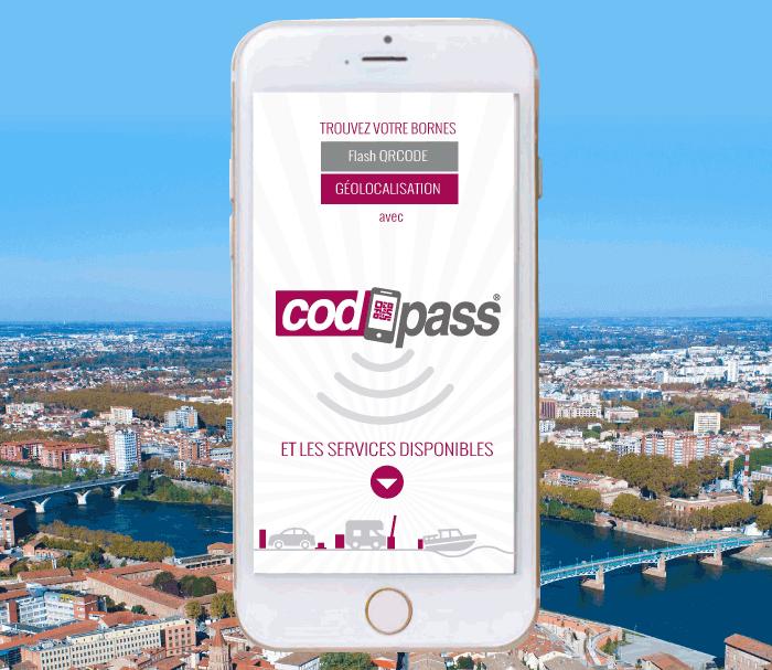 Smartphone : Codpass application
